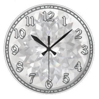 White Gem Large Clock