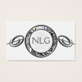 White Gem Scroll Business Card