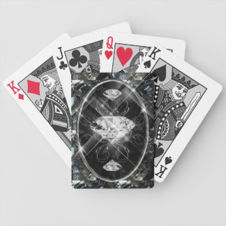 White Gems Bicycle Playing Cards