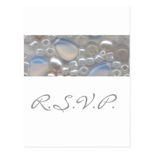 White Gems RSVP Postcard