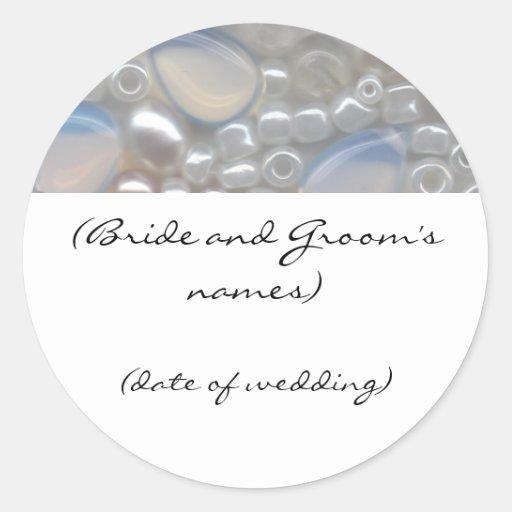 White Gems Wedding Sticker