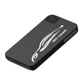White GEN COUPE Logo iPhone 4 Case-Mate Case