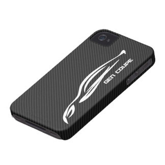 White GEN COUPE Logo iPhone 4 Cases