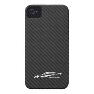 White GEN COUPE Logo iPhone 4 Cover