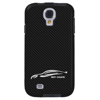 White Genesis coupe Silhouette Logo Galaxy S4 Case