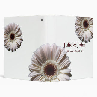 White Gerbera Daisies/ Wedding Binder