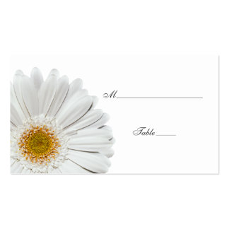 White Gerbera Daisy Special Occasion Place Card Business Cards