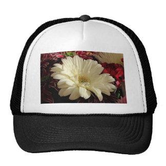White Gerbera Daisy Trucker Hat