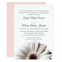 White Gerbera Wedding Daisy Invitation