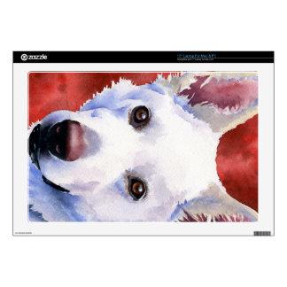 """White German Shepherd 17"""" Laptop Skins"""