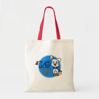 White German Shepherd -Blue Logo Tote Bag