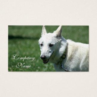 White German Shepherd business cards