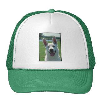 White German Shepherd Dog Mesh Hat