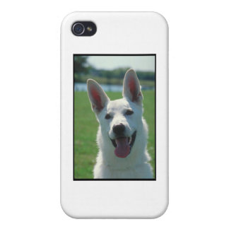 White German Shepherd Dog iPhone 4 Case