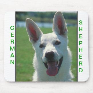 White German Shepherd Dog Mouse Pad