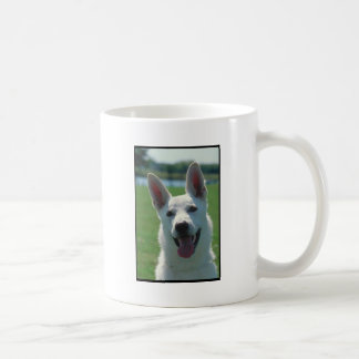 White German Shepherd Dog Classic White Coffee Mug