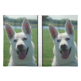 White German Shepherd Dog Placemat