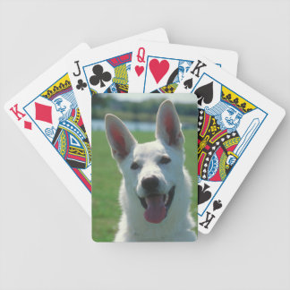 White German Shepherd Dog Playing Cards
