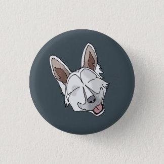 White German Shepherd Dog Smiling Pinback Button