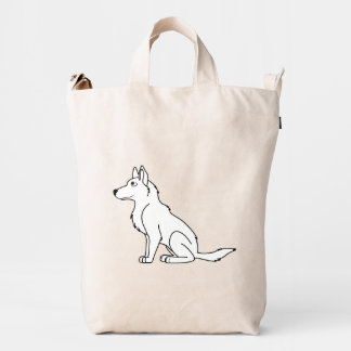White German Shepherd Duck Bag
