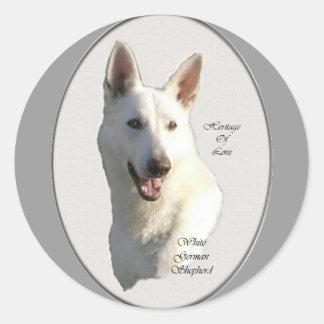 White German Shepherd Gifts Classic Round Sticker