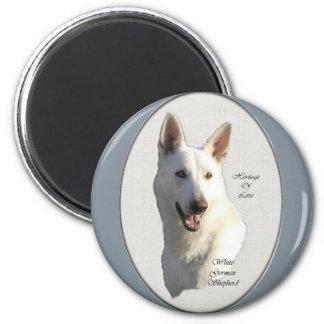 White German Shepherd Gifts Magnet