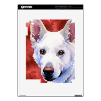 White German Shepherd iPad 2 Skins