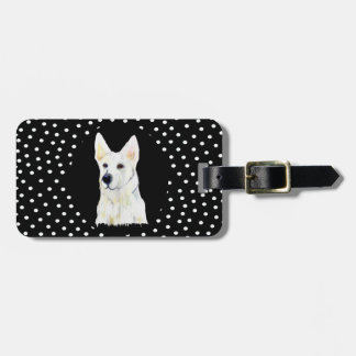 WHITE GERMAN SHEPHERD TAG FOR LUGGAGE