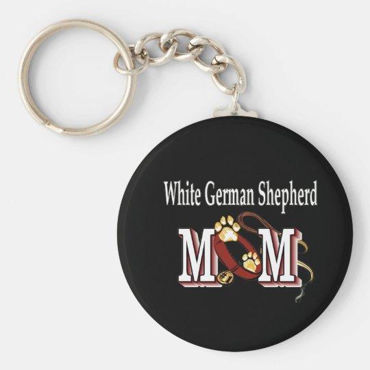 White German Shepherd Mom Gifts Keychain
