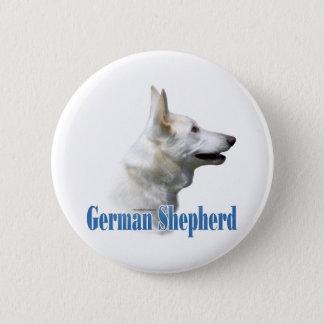 White German Shepherd Name - Button