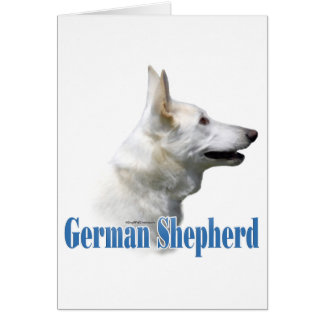 White German Shepherd Name Card