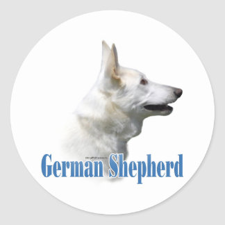 White German Shepherd Name - Sticker