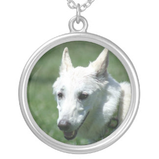 White German Shepherd necklace