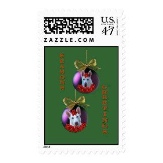 White German Shepherd Ornaments Postage