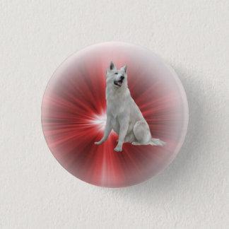 White German Shepherd Pinback Button