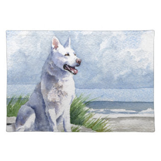 White German Shepherd Placemat
