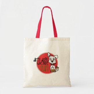White German Shepherd -Red Logo Bag