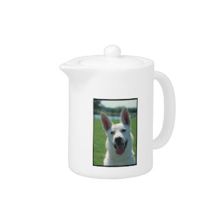 White German Shepherd Teapot