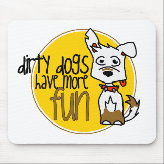 White German Shepherd -Yellow Logo Mouse Pad