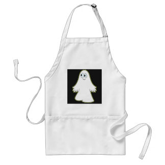 White Ghost Adult Apron