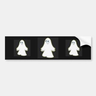 White Ghost Car Bumper Sticker