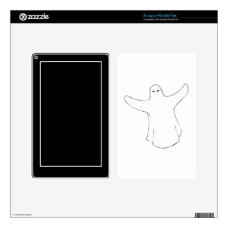 White ghost two arms out kindle fire skin