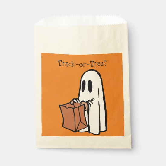White Ghost with Trick-or-Treat Bags - goodie bag