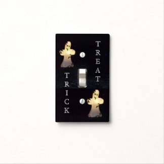 White Ghosts Light Switch Cover