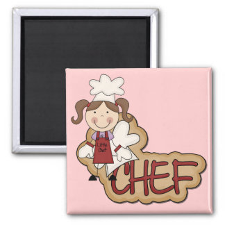 White Girl Chef T-shirts and Gifts Magnet