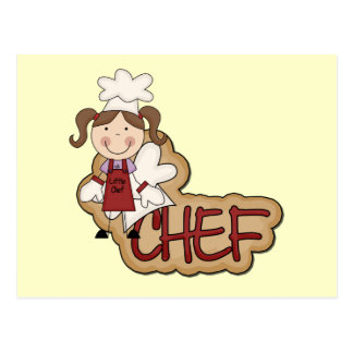 White Girl Chef T-shirts and Gifts Postcard