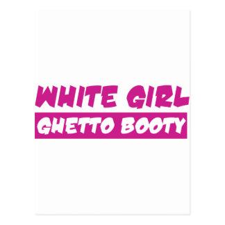 White girl ghetto booty postcard