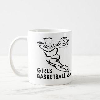 White Girls Basketball Coffee Mug