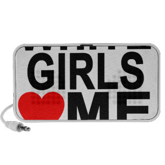 WHITE GIRLS LOVE ME T-Shirts.png Mini Speaker