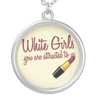 White Girls Silver Plated Necklace